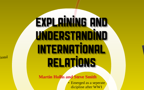 Expanding and Understanding International Relations by