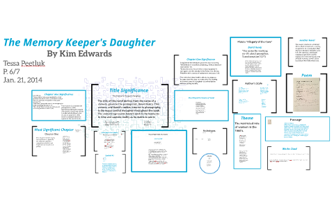 memory keepers daughter thesis