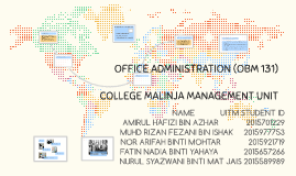 Office Administration Obm 131 By Nor Arifah Mohtar