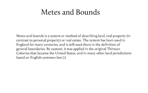 Township Range and Metes and Bounds by greg miller on Prezi