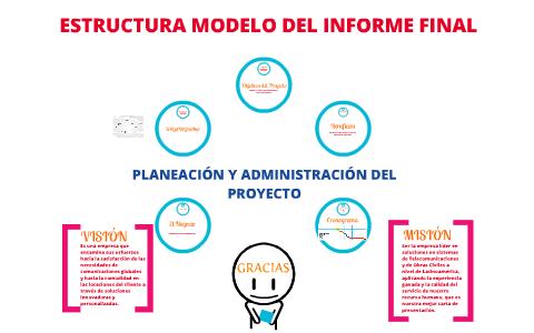 Estructura Modelo Del Informe Final By Kevin Vice On Prezi