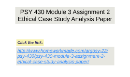ethical case study analysis paper