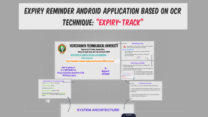 Expiry Reminder Android Application based on OCR technique