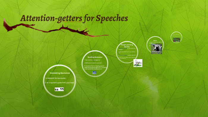 Attention-getters for Speeches by Stephanie Hurt on Prezi