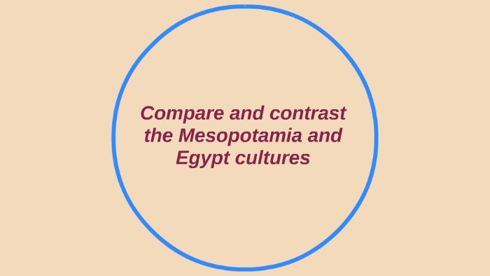 differences between mesopotamia and egypt