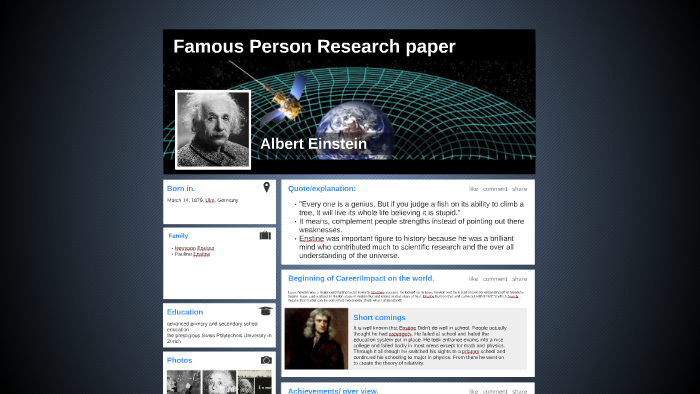 research paper on famous person