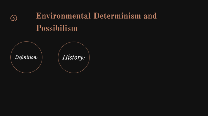 define possibilism