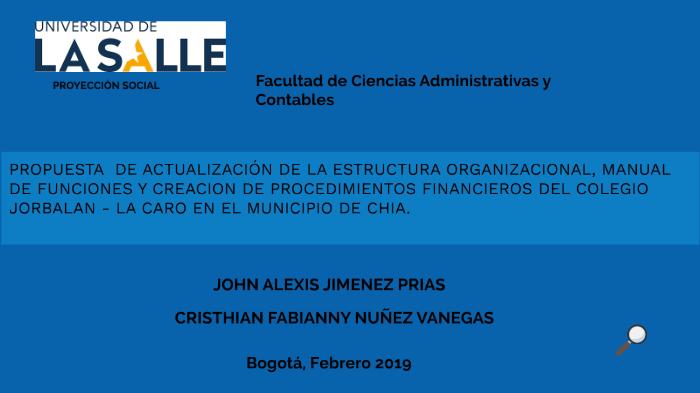 Propuesta De Actualización De La Estructura Organizacional