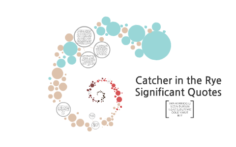 catcher in the rye significant quotes by ekin kerimoglu on prezi