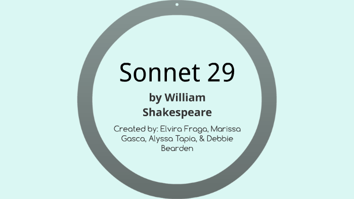 sound devices in sonnet 29