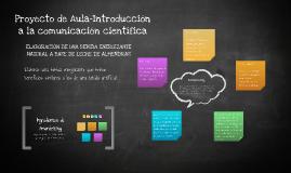 Proyecto de Aula-Introducción a la comunicación científica