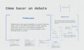 Cómo hacer un debate