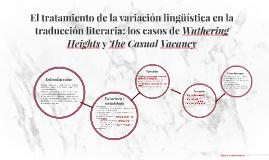 El tratamiento de la variación lingüística en la traducción