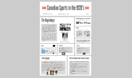 Canadian Sports 1920's to 1930's
