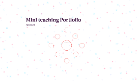 Mini teaching Portfolio
