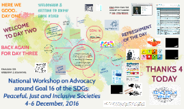 National Workshop on Advocacy around Goal 16 of the SDGs: