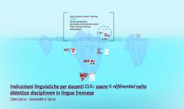 Indicazioni linguistiche per docenti CLIL: usare il référent