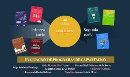 EVALUACIÓN DE PROGRAMAS DE CAPACITACIÓN