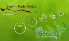 Introdução ao Módulo de Química Verde