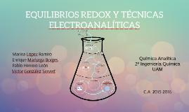 EQUILIBRIOS DE OXIDACIÓN-REDUCCIÓN Y TECNICAS ELECTROANALÍTI