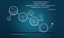 Ley de Orden Público de Guatemala