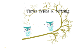 Copy of Three Types of Writing