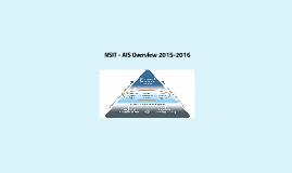 NSIT - AIS Overview 2015-2016