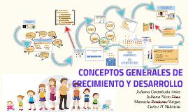 CONCEPTOS GENERALES DE CRECIMIENTO Y DESARROLLO