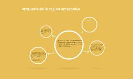 vestuario de la region amazonica