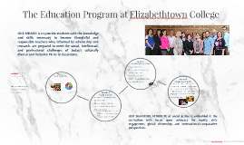 The Education Program at Elizabethtown College