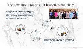 The Education Program at Elizabethtown College