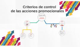 Criterios de control de las acciones promocionales