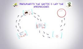 Copy of PRESUPUESTO DE GASTOS O LEY DE APROPIACIONES