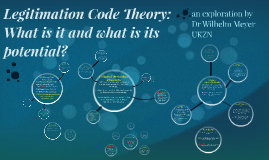 Copy of Legitimation Code Theory