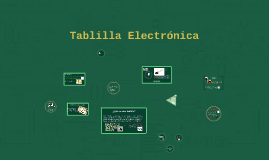 Tablilla Electrónica