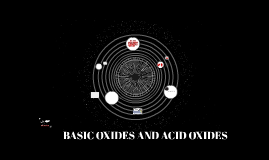 Acid oxides and basic oxides