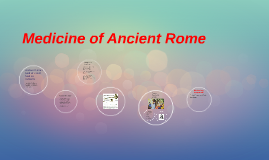 Medicine of Ancient Rome