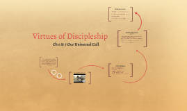 Virtues of Discipleship