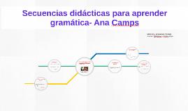 Secuencias didácticas para aprender gramática