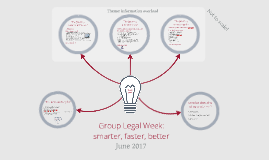 2017.06 - Group Legal Week: smarter, better, faster