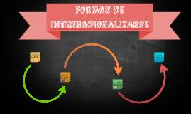 Formas de Internacionalizarse