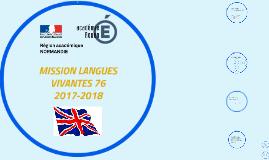 MISSION LANGUES VIVANTES 76 2017-2018