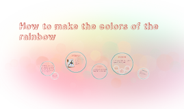 How to make the colors of the rainbow