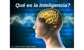 Qué es la Inteligencia?