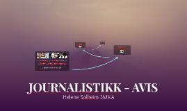 JOURNALISTIKK - AVIS