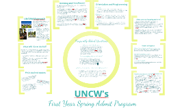 UNCW's First Year Spring Admit Program