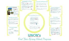 UNCW's First Year Spring Admit Program