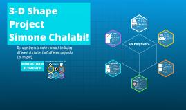 Copy of 3-D Shape Project