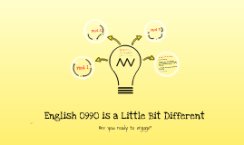 English 0990 - A Different Kind of English Course