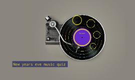 New years eve music quiz